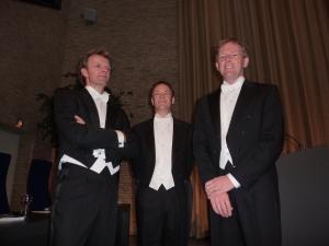 vlnr Hubert Cornelis, Peter Ramakers (paranimfen) en Pieter cornlies